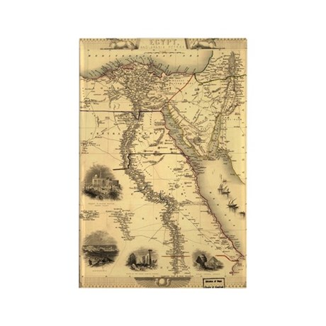Ancient Egypt Map Rectangle Magnet