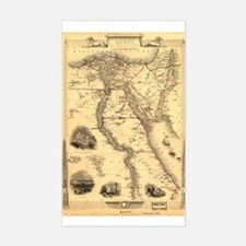 Ancient Egypt Map Rectangle Decal