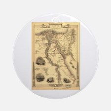 Ancient Egypt Map Ornament (Round)