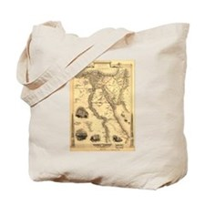 Ancient Egypt Map Tote Bag