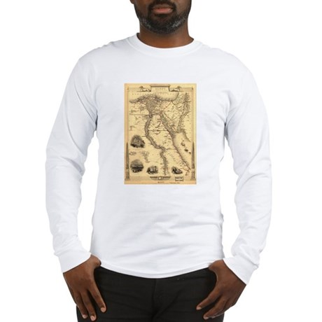 Ancient Egypt Map Long Sleeve T-Shirt