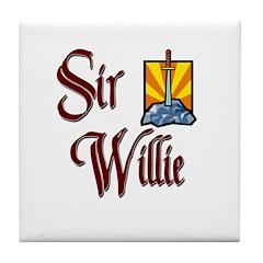 Sir Willie Tile Coaster