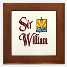 Sir William Framed Tile