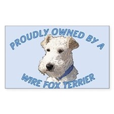 Proudly Owned Wire Fox Terrier Bumper Stickers