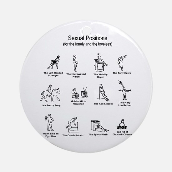 Sexual Positions Ornament (Round)