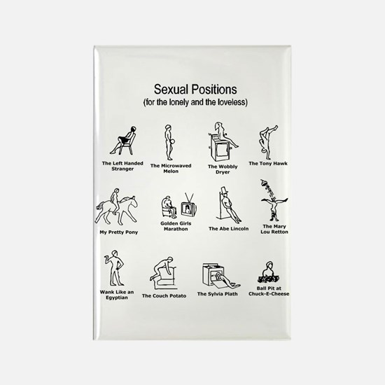 Sexual Positions Rectangle Magnet