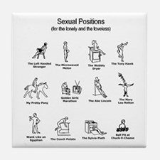 Sexual Positions Tile Coaster