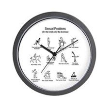 Sexual Positions Wall Clock