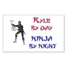 Kyle - Ninja by Night Rectangle Decal