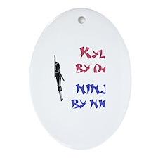 Kyle - Ninja by Night Oval Ornament