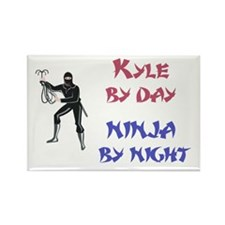 Kyle - Ninja by Night Rectangle Magnet