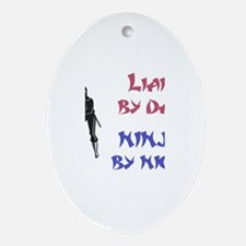 Liam - Ninja by Night Oval Ornament