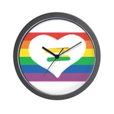 Wall Clock - Equality Pride Heart