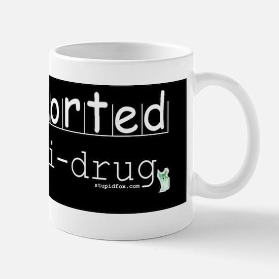 Black Anti-drug I Snorted Mug