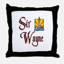 Sir Wayne Throw Pillow