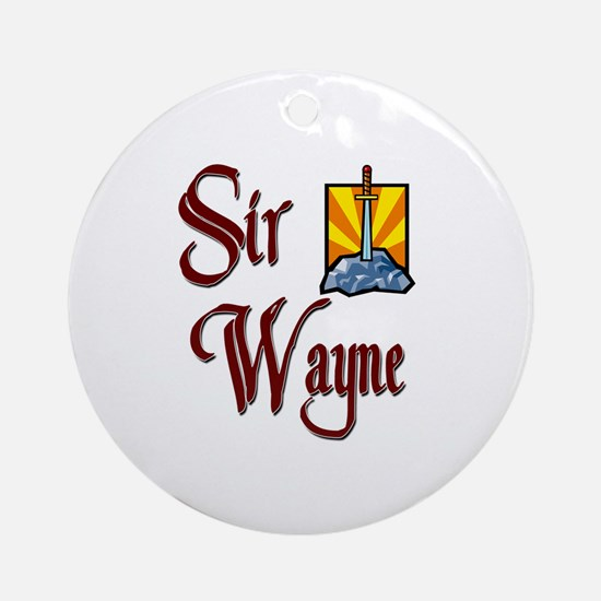 Sir Wayne Ornament (Round)