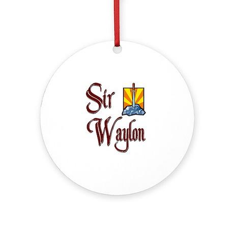 Sir Waylon Ornament (Round)