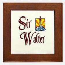 Sir Walter Framed Tile