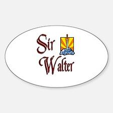 Sir Walter Oval Decal