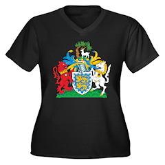 Berkshire Coat Of Arms Women's Plus Size V-Neck Da