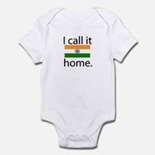 I Call It Home (India Flag) Infant Bodysuit