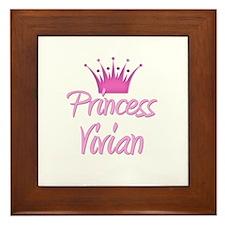 Princess Vivian Framed Tile