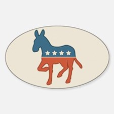 Democratic Donkey Oval Bumper Decal