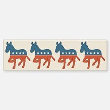 Democratic Donkey Bumper Bumper Bumper Sticker