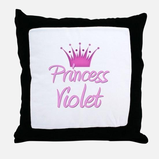Princess Violet Throw Pillow