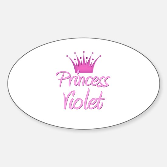Princess Violet Oval Decal