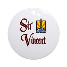 Sir Vincent Ornament (Round)