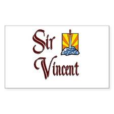 Sir Vincent Rectangle Decal