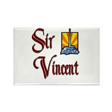 Sir Vincent Rectangle Magnet
