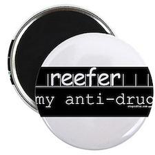 Anti-drug Reefer Black Magnet