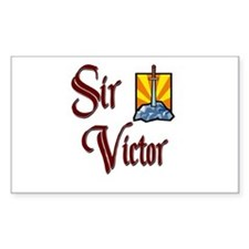 Sir Victor Rectangle Decal