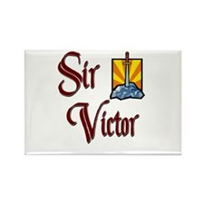 Sir Victor Rectangle Magnet