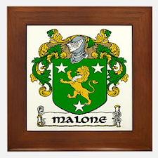 Malone Coat of Arms Framed Tile