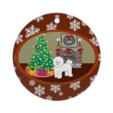 Classic Bichon Frise Ornament (Round)