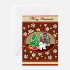 Classic Bichon Frise Greeting Card