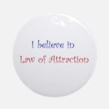 Law of Attraction Ornament (Round)