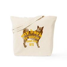 Finnish Spitz bark Tote Bag