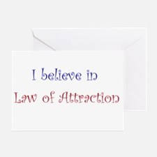 Law of Attraction Greeting Card