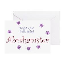 Abrahamster Greeting Card
