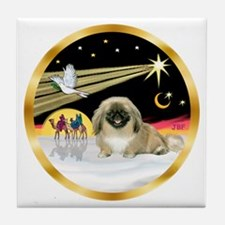 Wisemen/Pekingese Tile Coaster