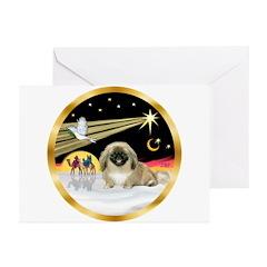 Wisemen/Pekingese Greeting Cards (Pk of 10)