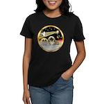 Wisemen/Pekingese Women's Dark T-Shirt