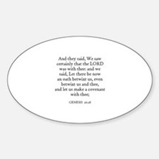 GENESIS 26:28 Oval Decal