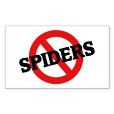 Anti Spiders Rectangle Decal
