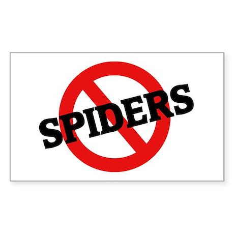 Anti Spiders Rectangle Sticker