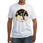 Night Flight/Beagle #2 Fitted T-Shirt